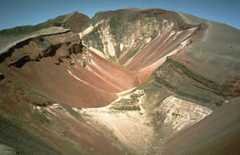 Mount Tarawera 1886 eruption crater