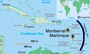 Caribbean Tectonic map
