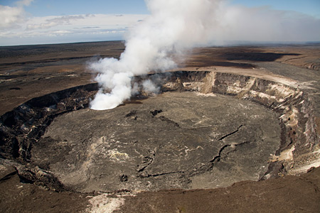 Kileaua Halemaumau  crater 2010 on Big Island Hawaii USGS