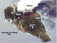 Click for bigger map. Pyroclastic Flow routes MVO