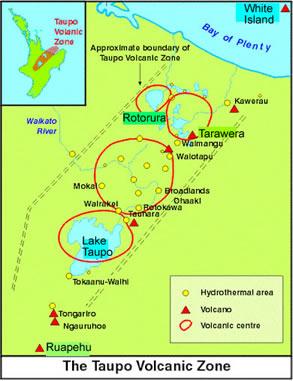 Map Of Taupo New Zealand.Lake Taupo New Zealand
